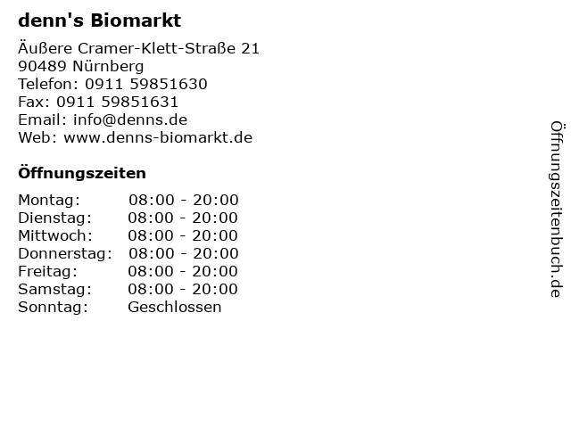 denn's Biomarkt in Nürnberg: Adresse und Öffnungszeiten