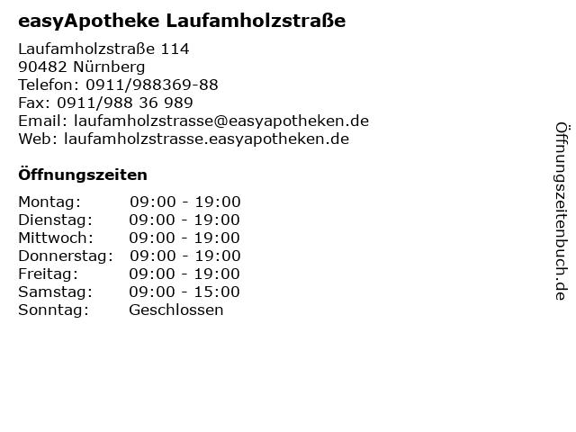 easyApotheke Laufamholzstraße in Nürnberg: Adresse und Öffnungszeiten