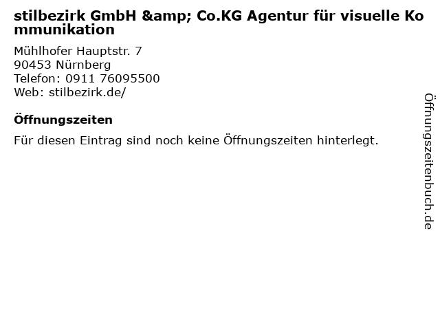 stilbezirk GmbH & Co.KG Agentur für visuelle Kommunikation in Nürnberg: Adresse und Öffnungszeiten