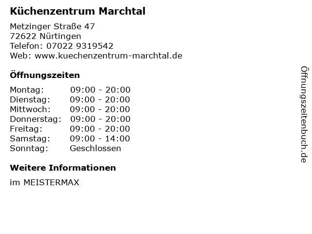 ᐅ öffnungszeiten Küchenzentrum Marchtal Metzinger Straße 47 In