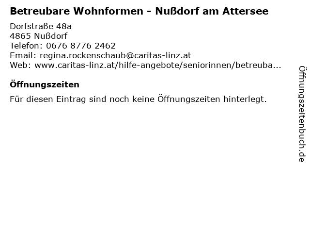 Betreubare Wohnformen - Nußdorf am Attersee in Nußdorf: Adresse und Öffnungszeiten