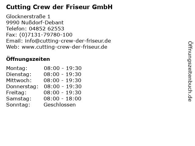 Cutting Crew der Friseur GmbH in Nußdorf-Debant: Adresse und Öffnungszeiten