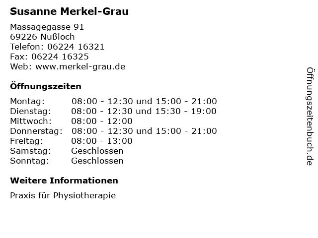 Susanne Merkel-Grau in Nußloch: Adresse und Öffnungszeiten