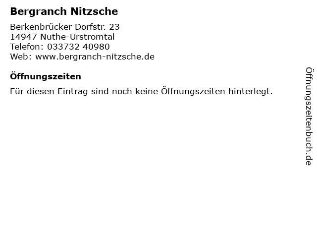 Bergranch Nitzsche in Nuthe-Urstromtal: Adresse und Öffnungszeiten
