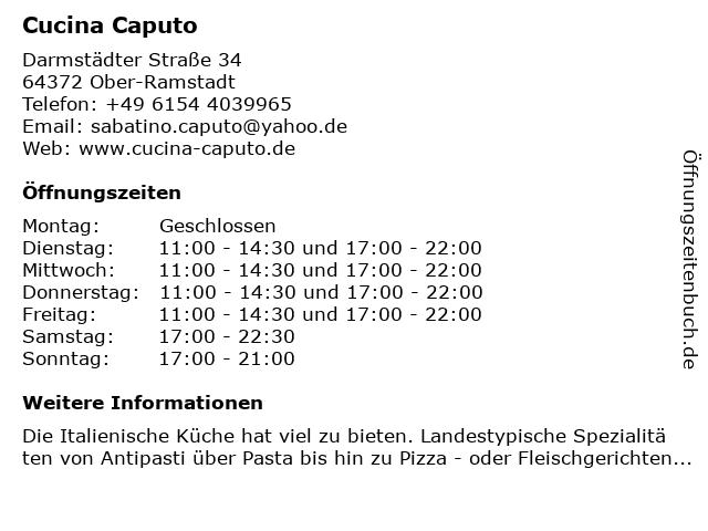 Cucina Caputo in Ober-Ramstadt: Adresse und Öffnungszeiten