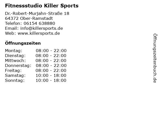 Killer Sports - Studio in Ober-Ramstadt: Adresse und Öffnungszeiten