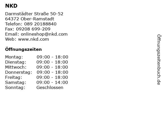 NKD in Ober-Ramstadt: Adresse und Öffnungszeiten