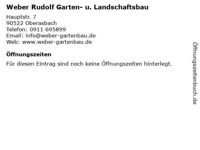 Weber Rudolf Garten- u. Landschaftsbau in Oberasbach: Adresse und Öffnungszeiten