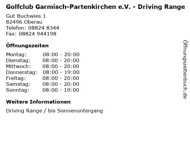 Golfclub Garmisch-Partenkirchen e.V. - Driving Range in Oberau: Adresse und Öffnungszeiten