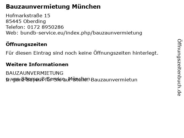 B & B Service in Oberding: Adresse und Öffnungszeiten