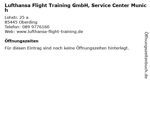 Lufthansa Flight Training GmbH, Service Center Munich in Oberding: Adresse und Öffnungszeiten