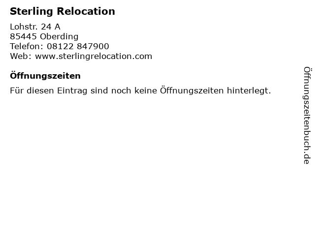 Sterling Relocation in Oberding: Adresse und Öffnungszeiten