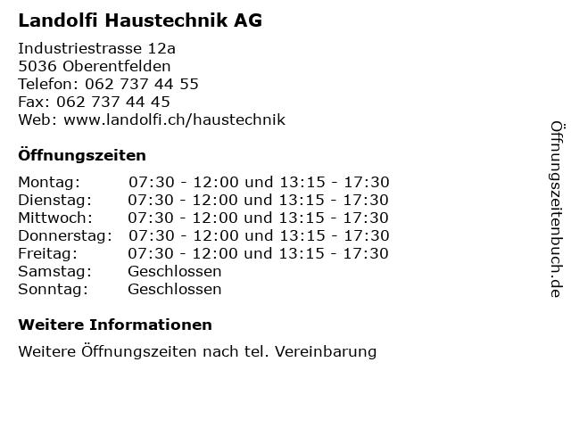 Landolfi Haustechnik AG in Oberentfelden: Adresse und Öffnungszeiten