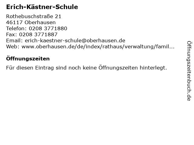 Erich-Kästner-Schule in Oberhausen: Adresse und Öffnungszeiten