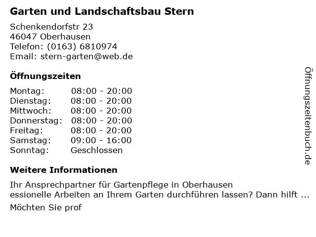 ᐅ Offnungszeiten Garten Und Landschaftsbau Neudeck Danziger Str