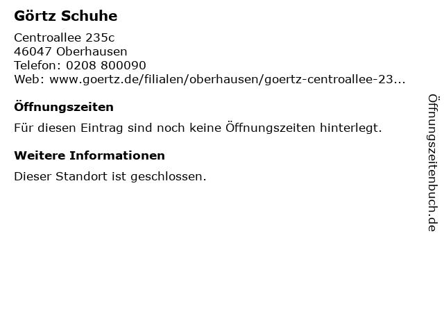 Görtz GmbH (Obergeschoss) in Oberhausen: Adresse und Öffnungszeiten