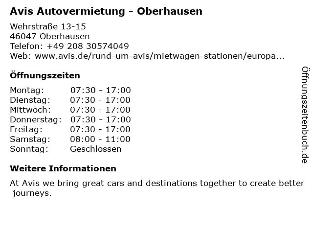 Hertz Autovermietung GmbH in Oberhausen: Adresse und Öffnungszeiten