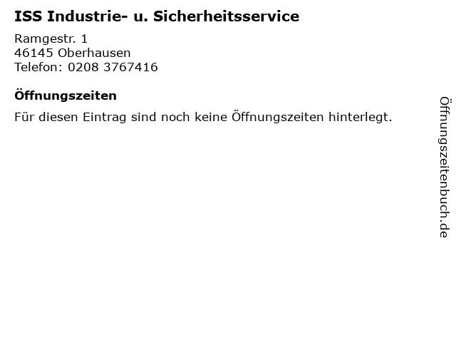 ISS Industrie- u. Sicherheitsservice in Oberhausen: Adresse und Öffnungszeiten