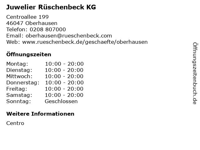 Juwelier Rüschenbeck KG in Oberhausen: Adresse und Öffnungszeiten
