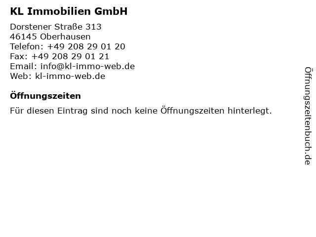 KL Immobilien GmbH in Oberhausen: Adresse und Öffnungszeiten