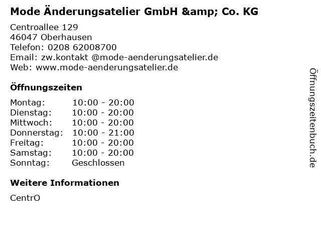 Mode Änderungsatelier GmbH & Co. KG in Oberhausen: Adresse und Öffnungszeiten
