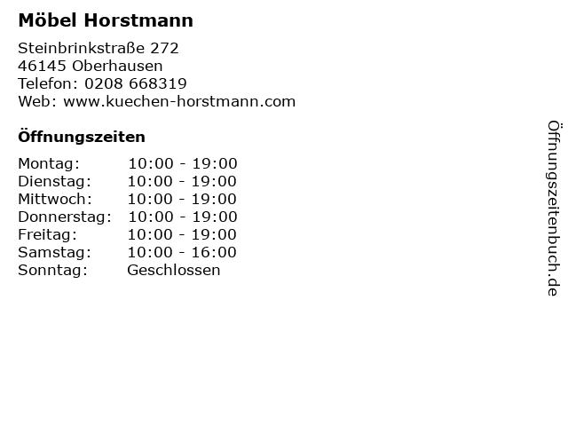 ᐅ Offnungszeiten Mobel Horstmann Steinbrinkstrasse 272 In Oberhausen