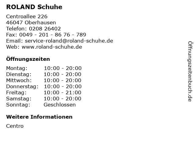 ROLAND Schuhe in Oberhausen: Adresse und Öffnungszeiten
