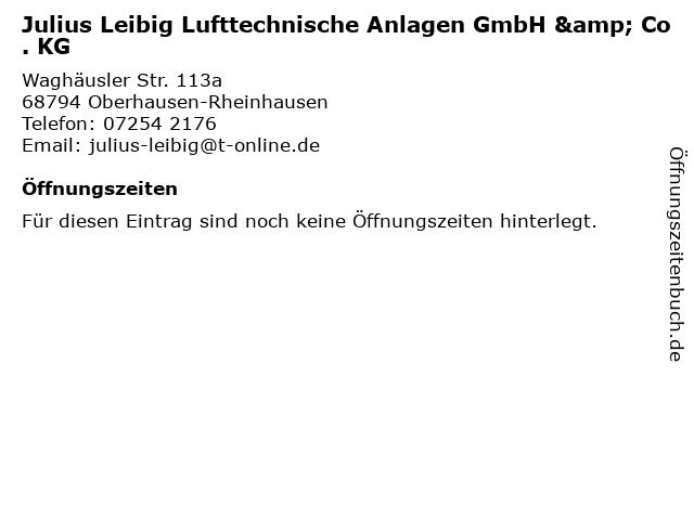 Leibig Julius Fabrik für lufttechnische Anlagen Inh. Roland Rausch in Oberhausen-Rheinhausen: Adresse und Öffnungszeiten