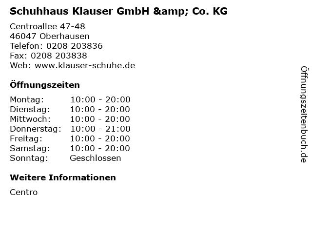 Schuhhaus Klauser GmbH & Co. KG in Oberhausen: Adresse und Öffnungszeiten