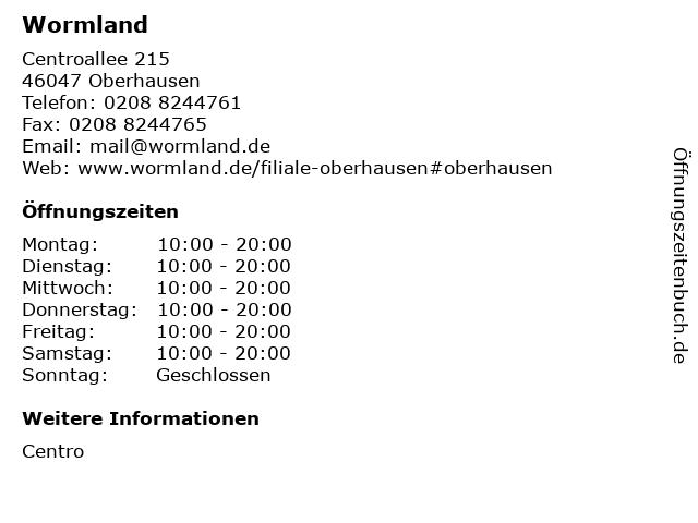 THEO Wormland GmbH & Co. KG in Oberhausen: Adresse und Öffnungszeiten