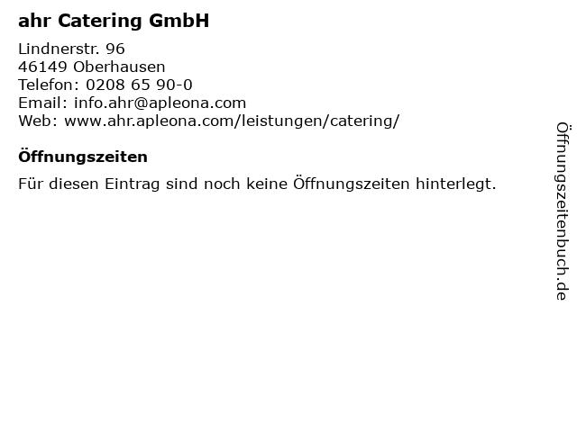 ahr Catering GmbH in Oberhausen: Adresse und Öffnungszeiten
