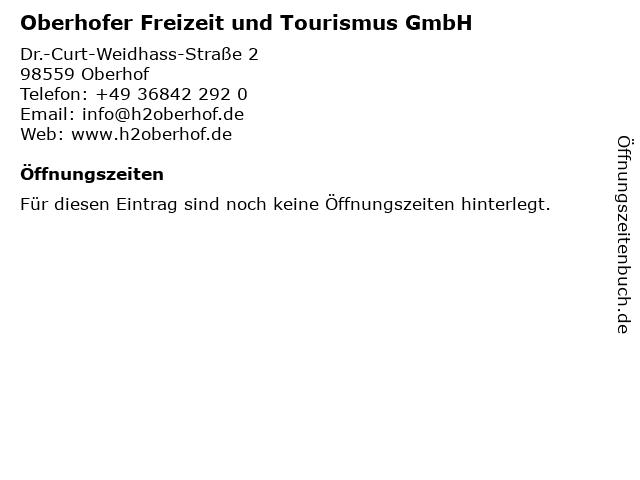 Oberhofer Freizeit und Tourismus GmbH in Oberhof: Adresse und Öffnungszeiten