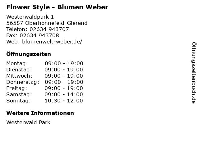 Flower Style - Blumen Weber in Oberhonnefeld-Gierend: Adresse und Öffnungszeiten