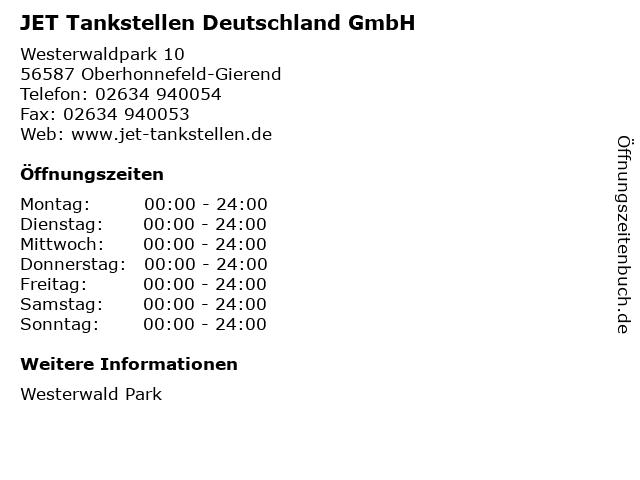 JET Tankstellen Deutschland GmbH in Oberhonnefeld-Gierend: Adresse und Öffnungszeiten