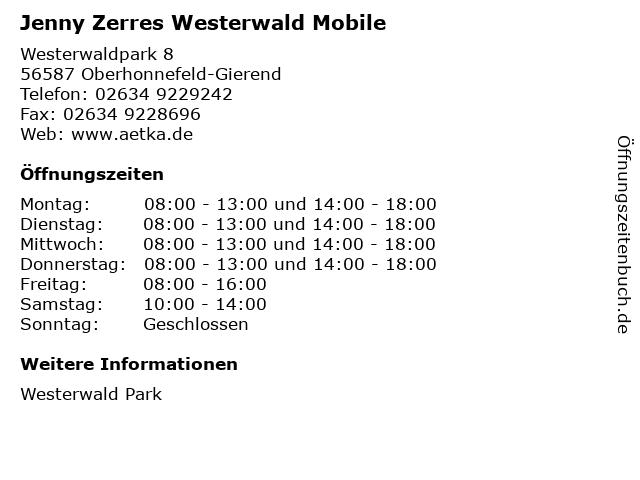 Jenny Zerres Westerwald Mobile in Oberhonnefeld-Gierend: Adresse und Öffnungszeiten
