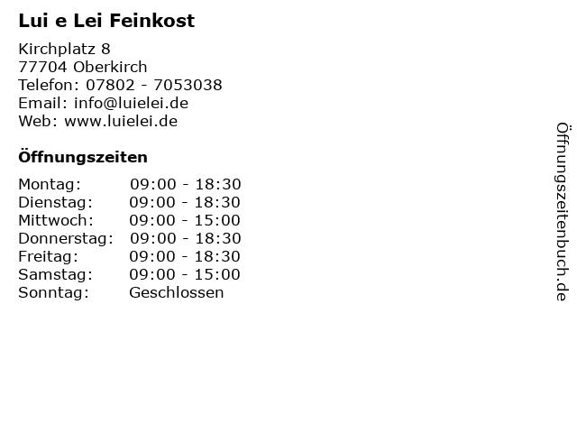 Lui e Lei in Oberkirch: Adresse und Öffnungszeiten