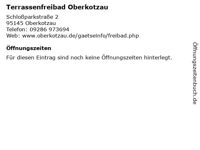 Terrassenfreibad Oberkotzau in Oberkotzau: Adresse und Öffnungszeiten