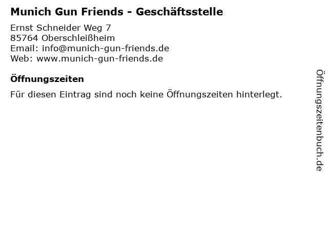 Munich Gun Friends - Geschäftsstelle in Oberschleißheim: Adresse und Öffnungszeiten