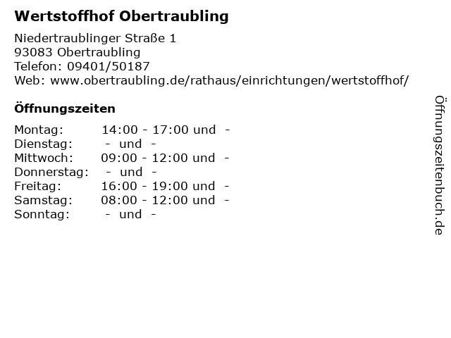 Wertstoffhof Obertraubling