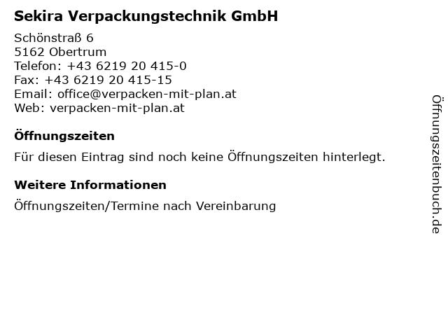 Sekira Verpackungstechnik GmbH in Obertrum: Adresse und Öffnungszeiten