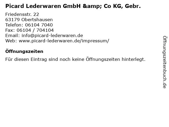 """76bcb977a3c2f ᐅ Öffnungszeiten """"Picard Lederwaren GmbH   Co KG"""