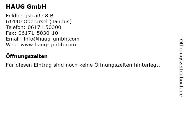 HAUG GmbH in Oberursel (Taunus): Adresse und Öffnungszeiten
