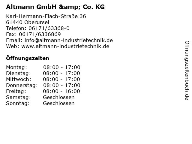 Altmann GmbH & Co. KG in Oberursel: Adresse und Öffnungszeiten