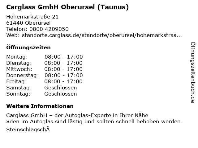 Carglass GmbH Oberursel (Taunus) in Oberursel: Adresse und Öffnungszeiten