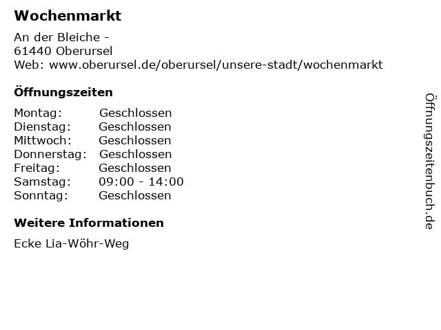 Wochenmarkt in Oberursel: Adresse und Öffnungszeiten
