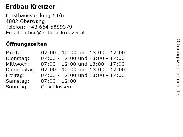 Erdbau Kreuzer in Oberwang: Adresse und Öffnungszeiten