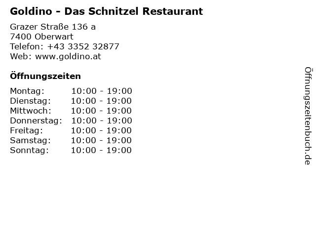 Goldino - Das Schnitzel Restaurant in Oberwart: Adresse und Öffnungszeiten