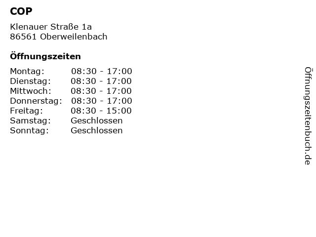 COP in Oberweilenbach: Adresse und Öffnungszeiten
