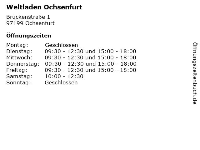 Weltladen Ochsenfurt in Ochsenfurt: Adresse und Öffnungszeiten