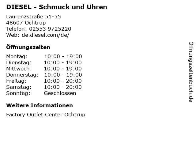 DIESEL - Schmuck und Uhren in Ochtrup: Adresse und Öffnungszeiten